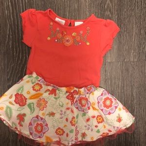 Other - Floral onesie and skirt bundle 6-9 mo.
